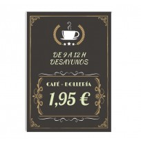 Cartel para cafetería modelo Vintage