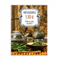 Cartel para infusiones promo