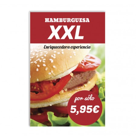 Cartel Hamburguesas