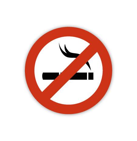 Prohibido fumar pegatina