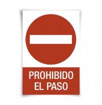 Pegatina prohibido el paso