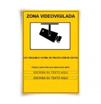 Señal Zona Videovigilada personalizada