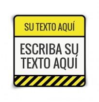 Pegatina peligro aviso
