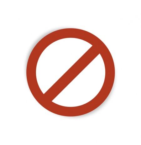 Pegatina señal prohibido