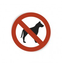 Pegatina prohibido animales