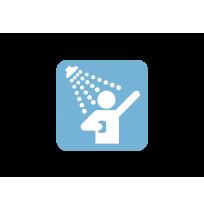 Pegatina señal duchas