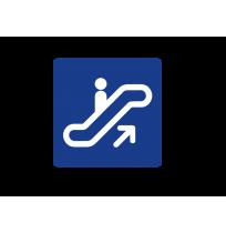Indicativo escaleras mecánicas
