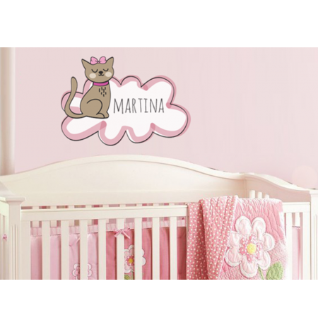 Ambiente pegatina gatito niña