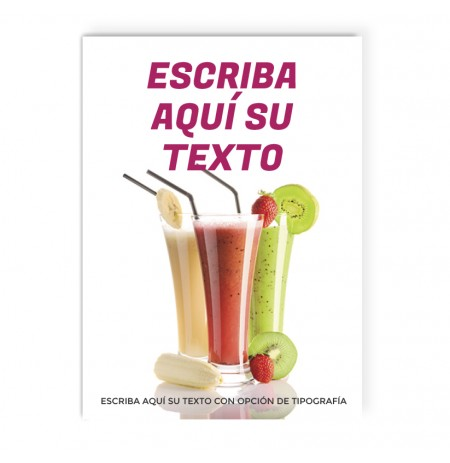 batidos oferta cartel ersonalizable