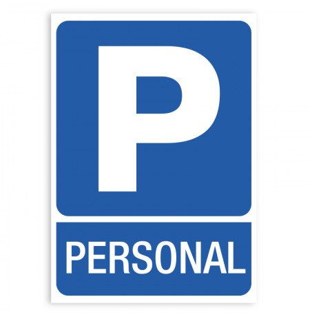 Pegatina parking personal señal