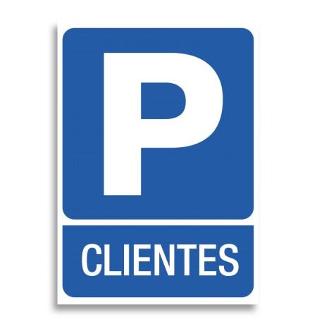 Vinilo señal parking clientes