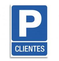 Pegatina señal Parking Clientes