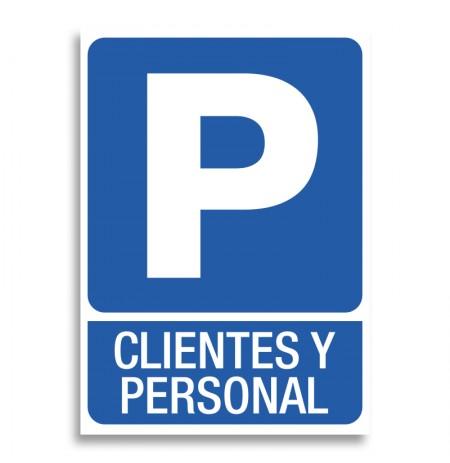 Parking clientes personal señal vinilo