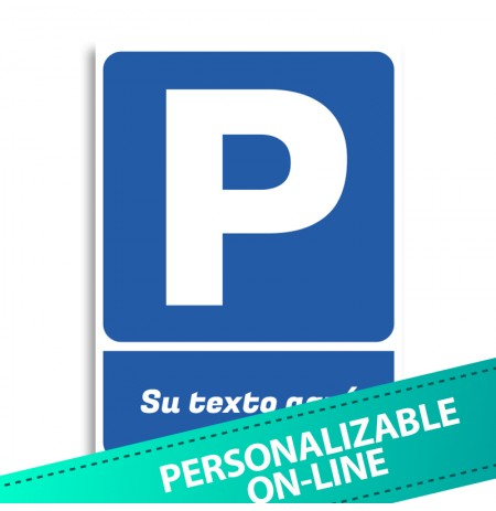 Parking vinilo texto personalizable