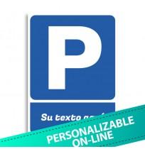 Pegatina señal Parking personalizable