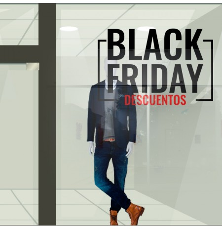 Black friday vinilo para escaparate