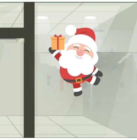 Reposicionable Papa Noel regalo