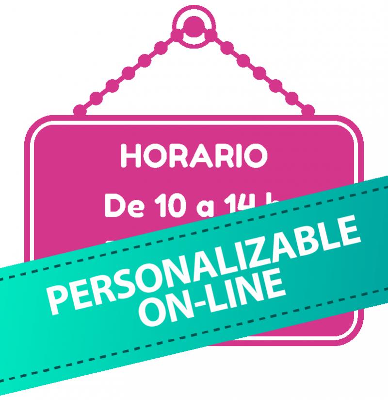 Horarios en vinilo personalizados 05 for Oficina de correos horario de atencion al publico